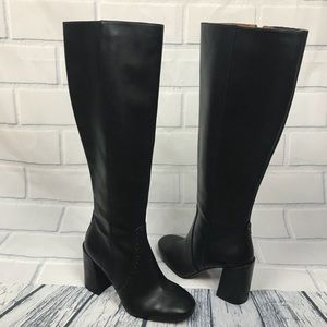 Coach Falcon Leather Studs Knee High Boots 6